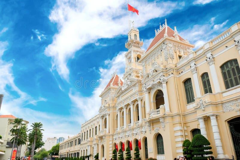 Ho Ho Chi Minh urząd miasta zdjęcia royalty free