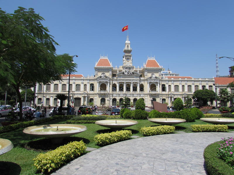 Ho Chi Minh urząd miasta (saigon) obrazy royalty free