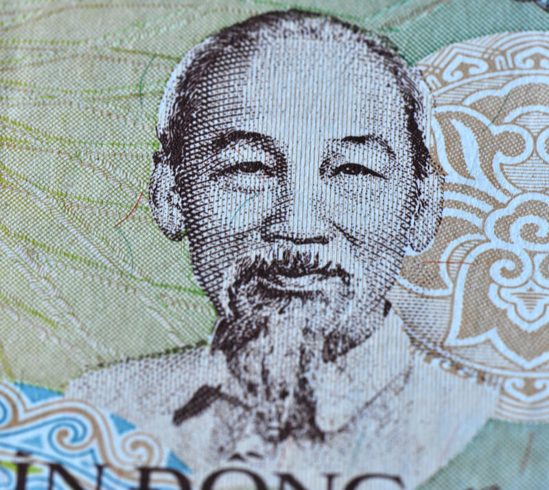 Ho chi minh on vietman. Ho chi minh's image on an old vietname currency stock photography