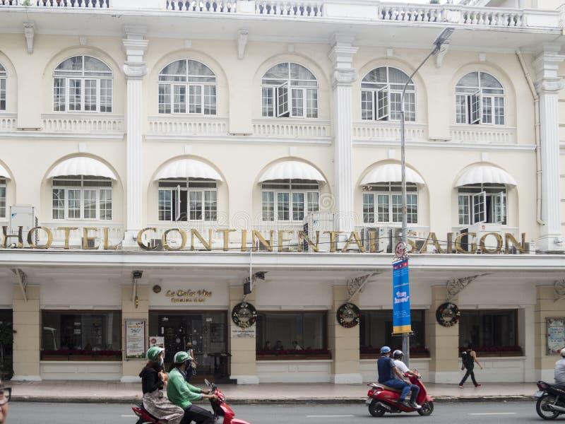 Ho Chi Minh, Vietnam - 16 de diciembre de 2017 hotel Saigo continental imagen de archivo libre de regalías