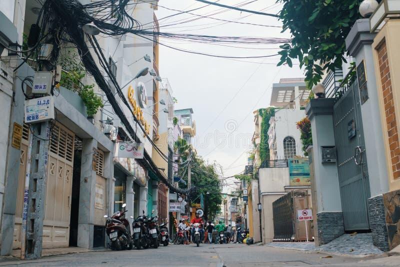 Download Ho Chi Minh Vietnam - DECEMBER 05, 2017: Smal Gata I Den Ho Chi Minh Staden Redaktionell Fotografering för Bildbyråer - Bild av gammalt, narrow: 106831854