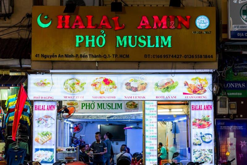 Ho Chi Minh, Vietnam: Halal food restaurant royalty free stock image