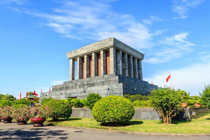Ho- Chi MinhMausoleum in Hanoi, Vietnam stockbilder
