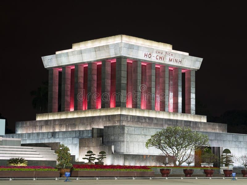 Ho Chi Minimalny mauzoleum w Hanoi, Wietnam obrazy stock