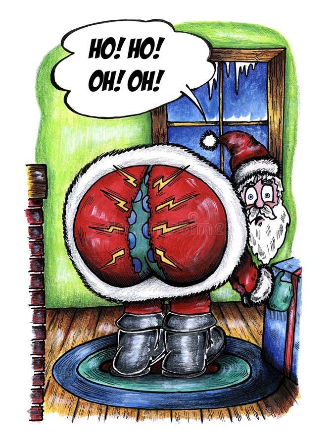 Ho ! Ho ! Ah ! Ah ! illustration de vecteur