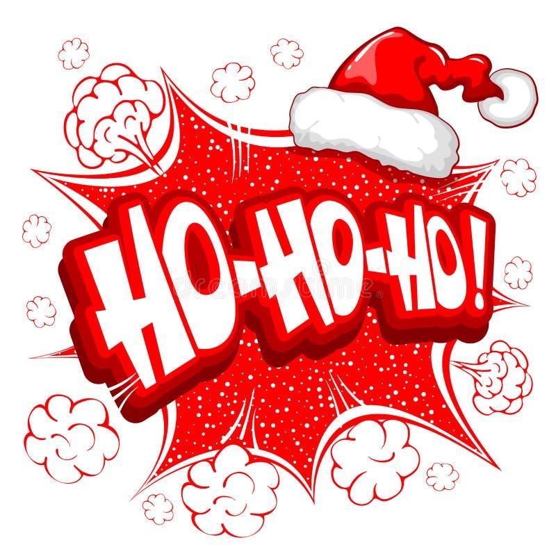 Ho ho ho illustration stock