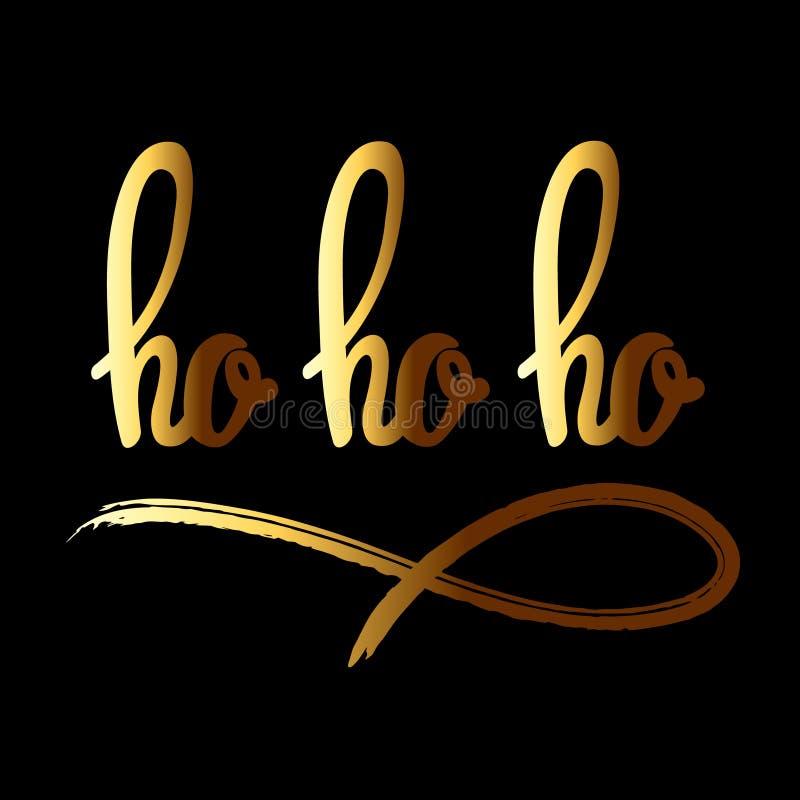 Ho ho ho hand drawn lettering royalty free illustration