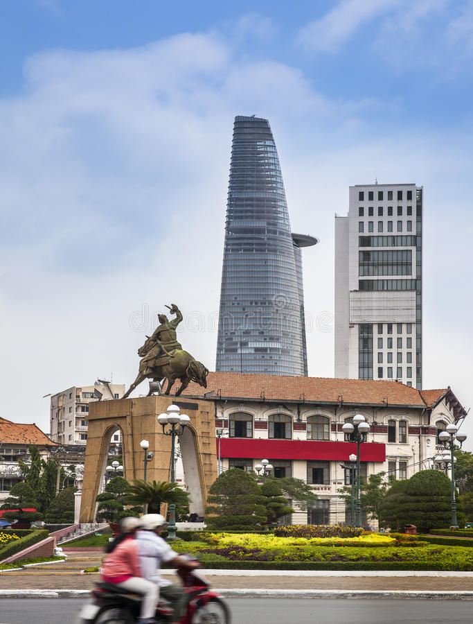 Ho ji minh city, Vietnam. Statue of Tran Nguyen Ha stock photos