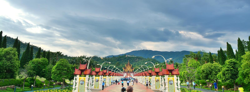 Ho Kham Luang на королевской флоре, Chiangmai, Thailanda, Chiangmai, Таиланд стоковое фото rf