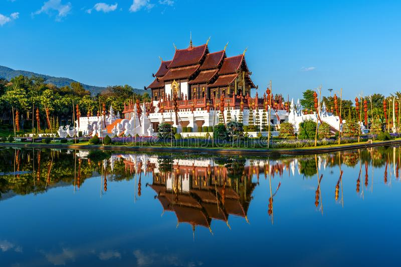 Ho kham luang northern thai style in Royal Flora ratchaphruek in Chiang Mai,Thailand.  stock photography