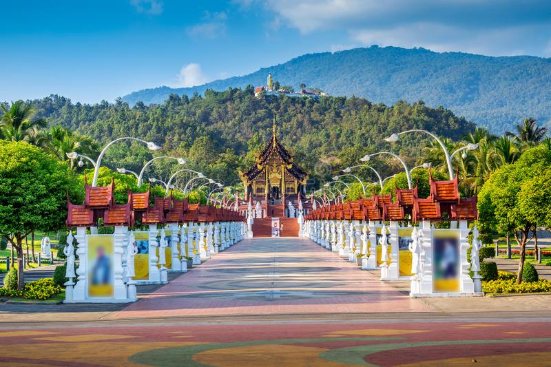 Ho Kham luang północny tajlandzki styl w Królewskim flory ratchaphruek w Chiang Mai, Tajlandia obraz royalty free