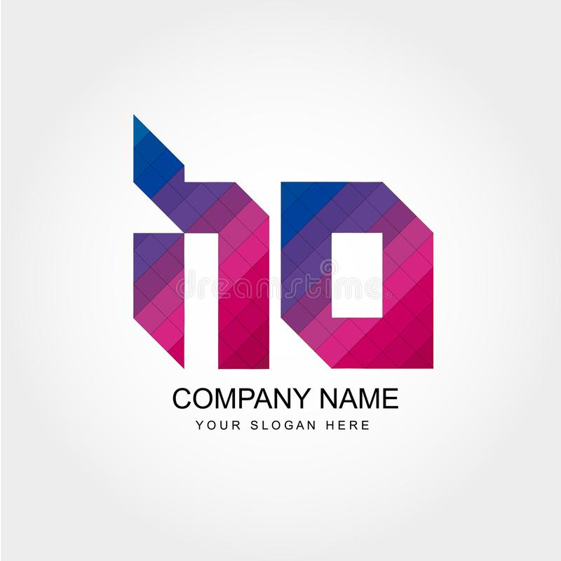 HO Letter Logo Design illustrazione di stock