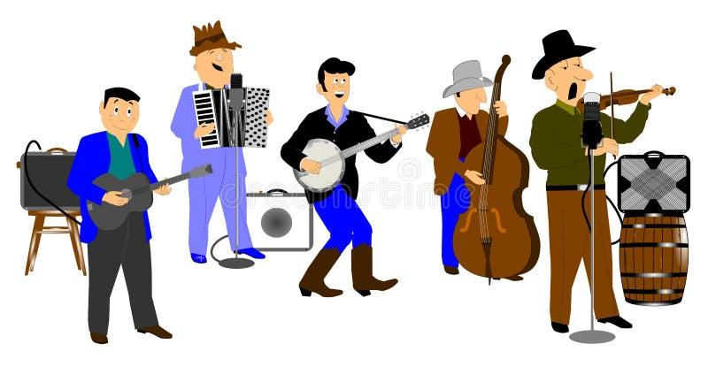 Ho onderaan band royalty-vrije illustratie