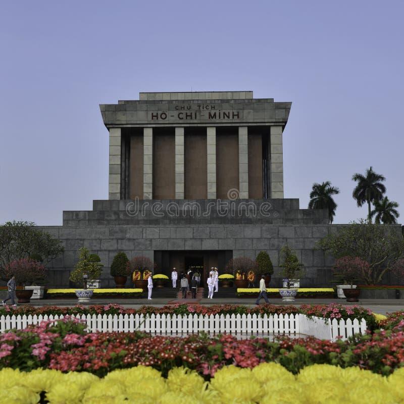 Ho Shi Min mausoleum i den Hanoi staden arkivbilder