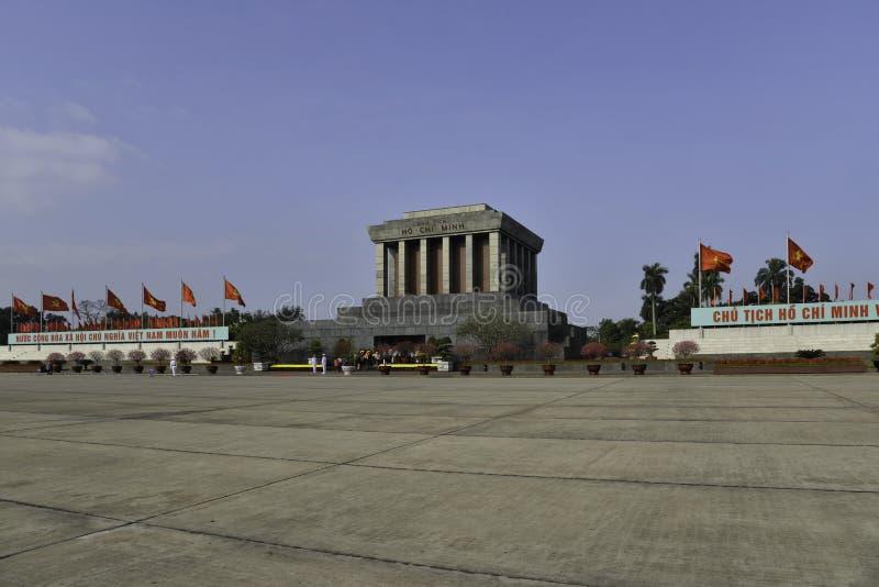 Ho Shi Min mausoleum i den Hanoi staden royaltyfria foton