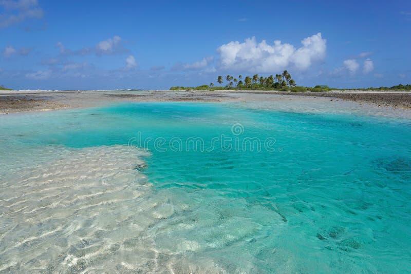 Hoa atollTikehau franska Polynesien Stilla havet royaltyfri fotografi