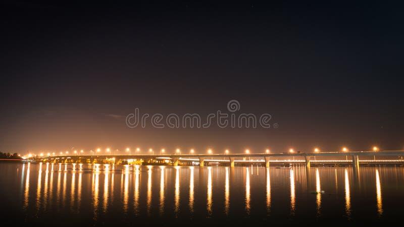 Hoa An Bridge, Bien Hoa City, Vietnam. Recently finished construction, Hoa An Bridge, which crosses the Nai River, is currently the longest bridge in Bien Hoa stock photos