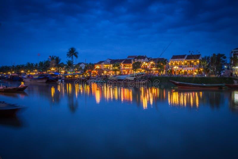 Hoai-Fluss Hoi An lizenzfreie stockbilder