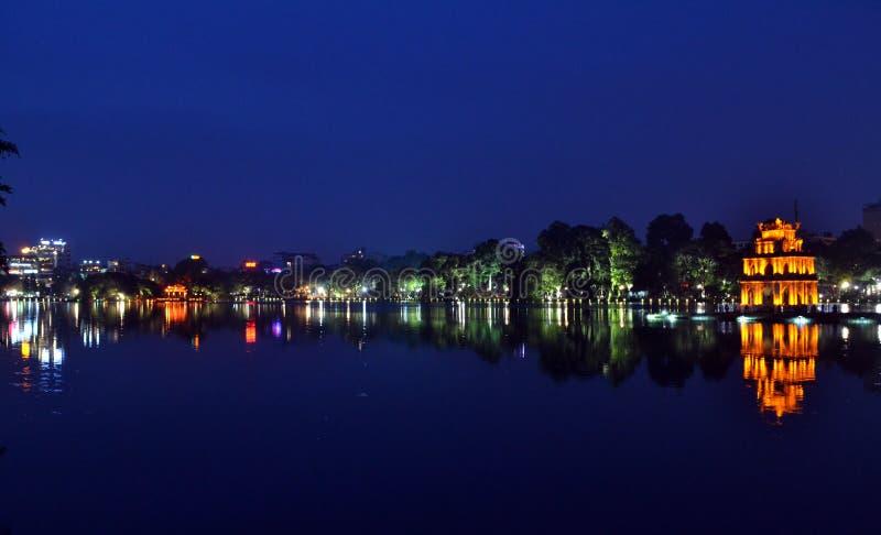 Hoan Kiem湖,河内,越南 免版税库存图片