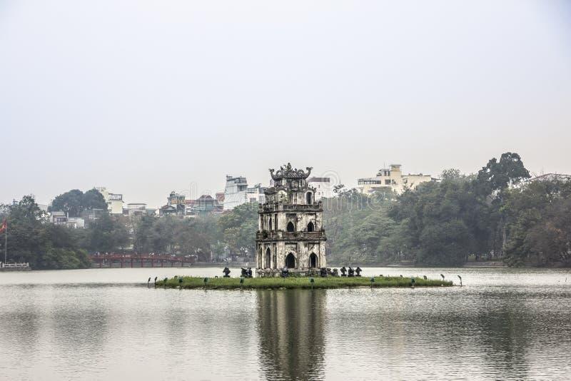Hoan Kiem jezioro zdjęcie royalty free