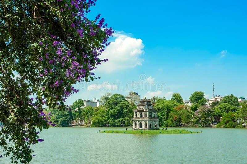 Hoan Kiem jezioro w Hanoi zdjęcie royalty free