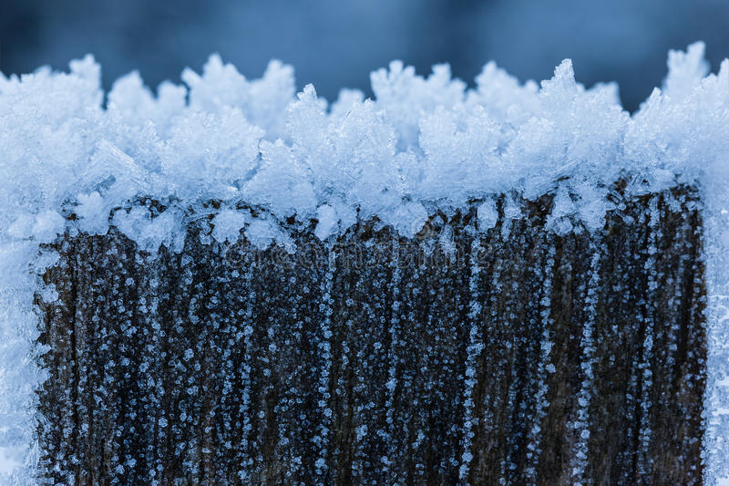 Download Hoar photo stock. Image du snowflake, glace, macro, froid - 45360414