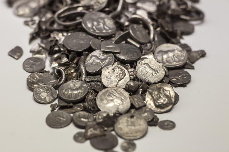 Hoard Cerro Kolorado, stare monety kiedykolwiek robić w Iberia, Malaga obraz stock