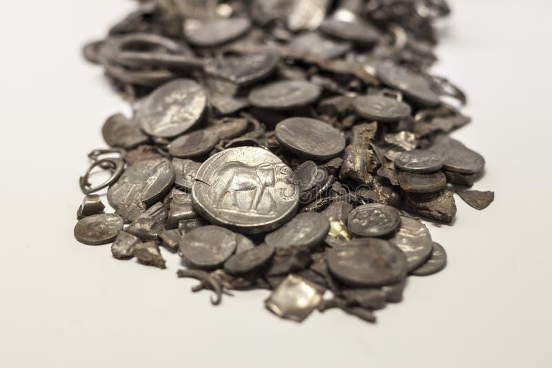 Hoard Cerro Kolorado, stare monety kiedykolwiek robić w Iberia, Malaga fotografia royalty free