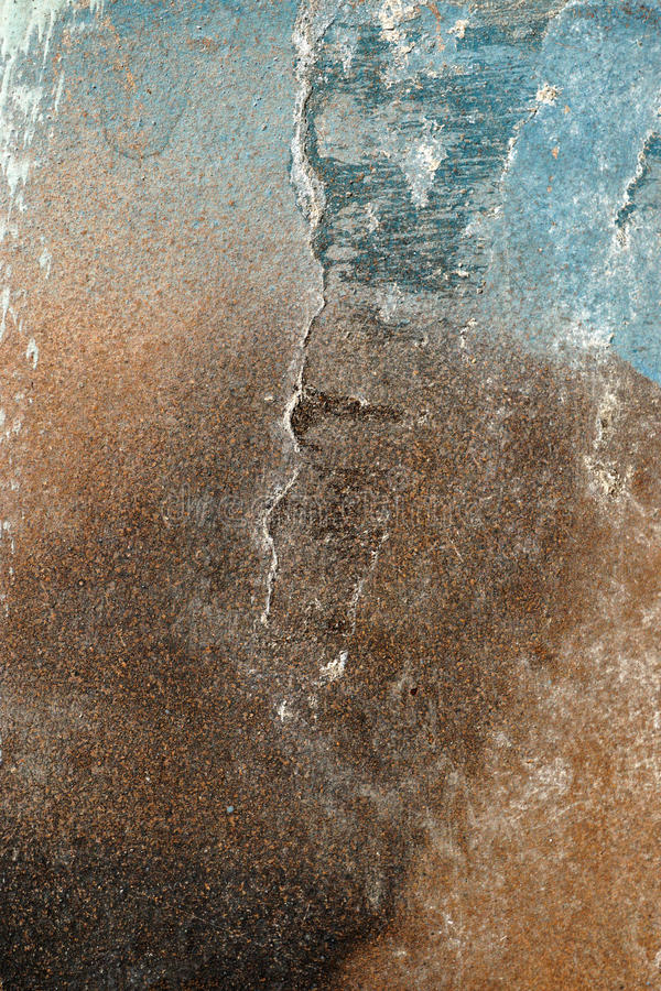 Free Hoarse,scratched And Peeled Surface With Blue And Brown Paint Stock Images - 61924594
