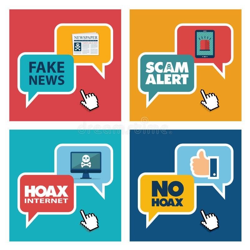 hoax stock illustratie