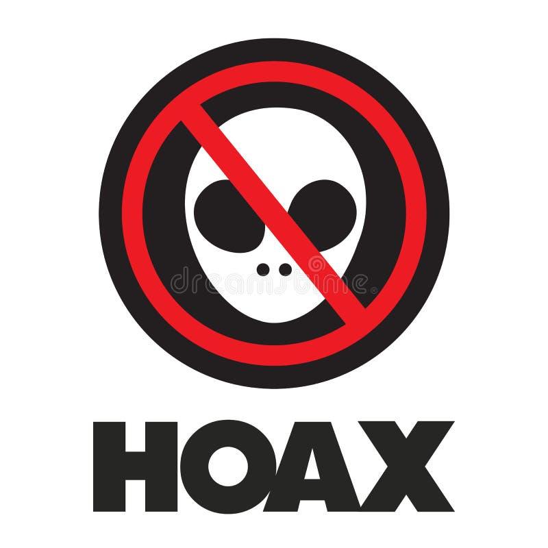 hoax royalty-vrije illustratie