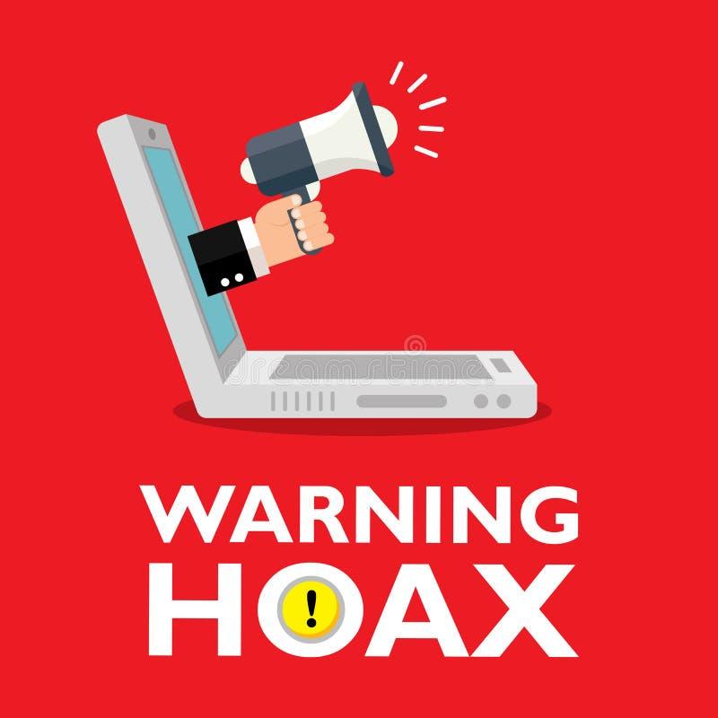 hoax vector illustratie
