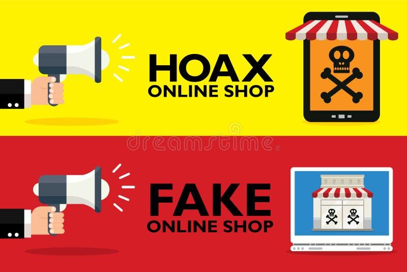 Hoax vector illustration
