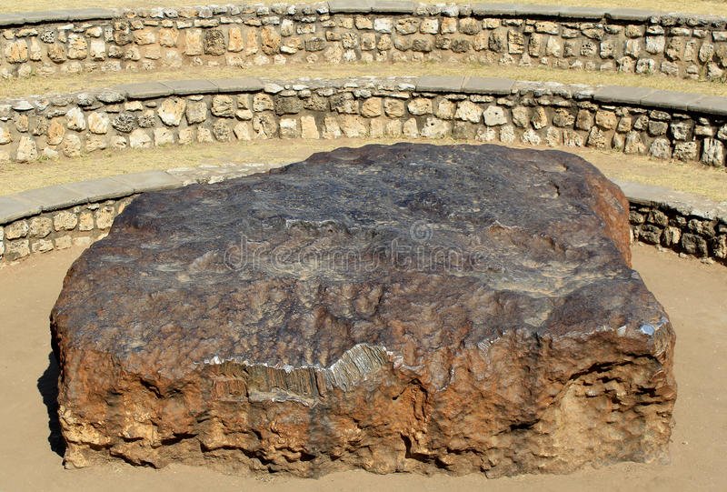 Hoba meteorite - the largest meteorite ever found stock photo