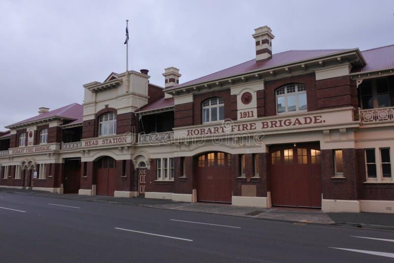Hobart Fire Brigade Building Tasmania Austrália imagem de stock