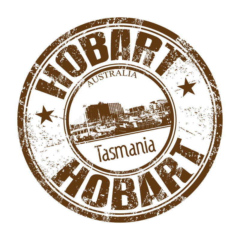 Hobart grunge rubber stamp royalty free stock images