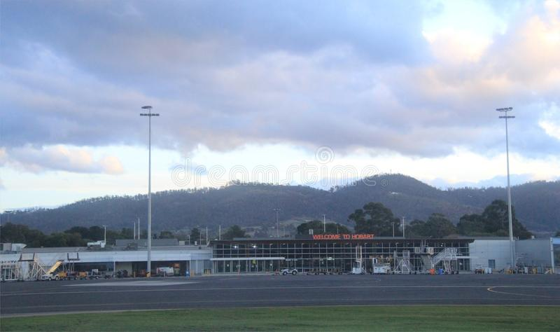 Hobart International Airport royalty-vrije stock fotografie
