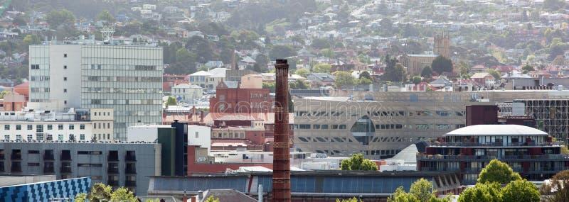 Hobart Panorama imagem de stock royalty free