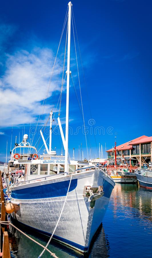 Hobart, Tasmânia e são bordadura bonitas imagens de stock