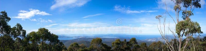 Hobart Tasmania Panorama fotos de stock royalty free
