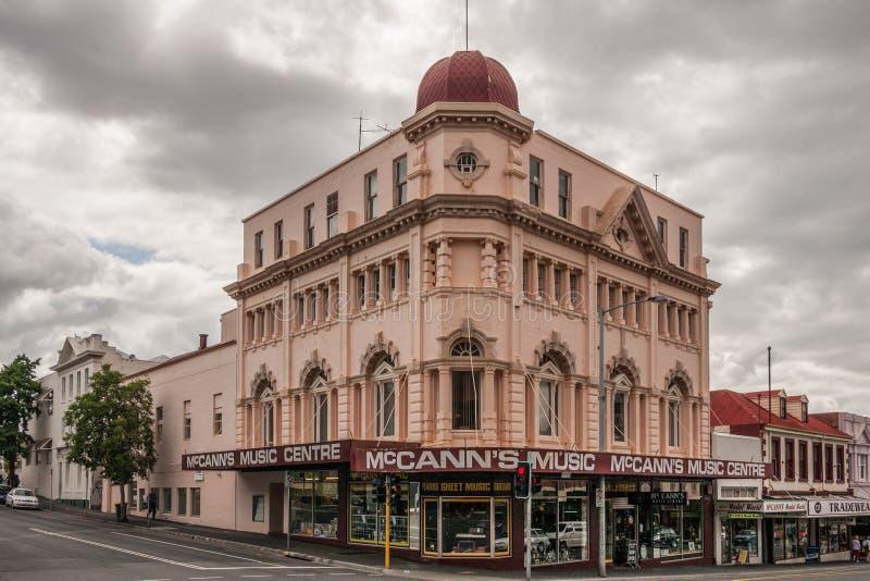 Hobart, Tasmanige, Australië - December 14, 2009: Het de Muziekcentrum die van McCann op hoek van twee het winkelen straten voort royalty-vrije stock fotografie