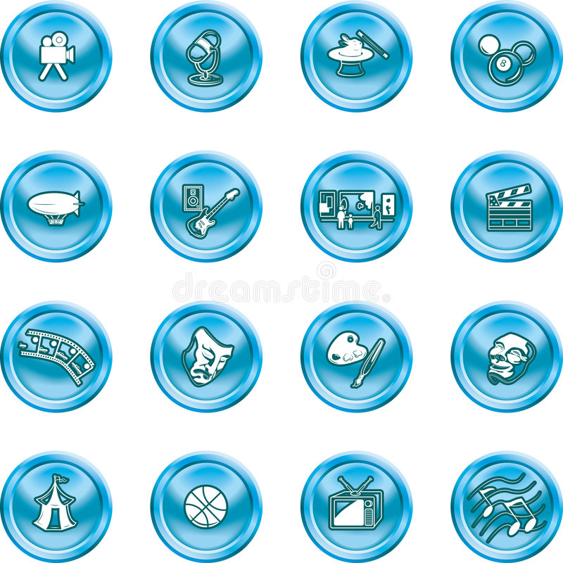 Hobbies and entertainment icon vector illustration
