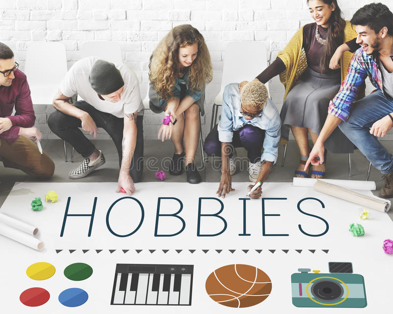 Hobbies Leisure Lifestyle Pastime Fun Concept.  stock image