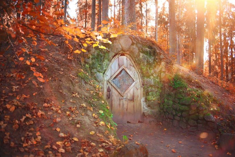 Hobbithuis stock foto's