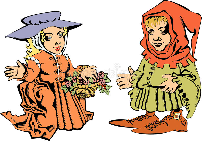 Download Hobbits stock vector. Illustration of flower, wedding - 10796008