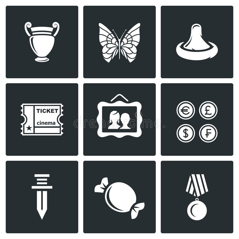 The hobby of collecting icons set. Vector Illustration. vector illustration