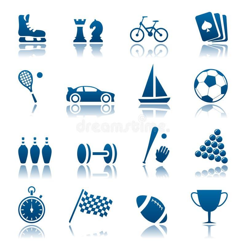 hobby ikony ustalony sport royalty ilustracja