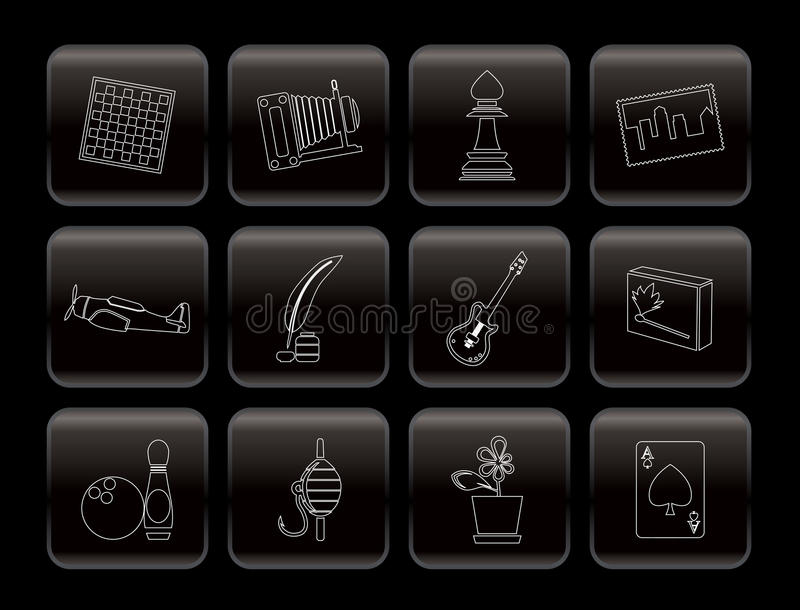 Download Hobby, Leisure And Holiday Icons Royalty Free Stock Photography - Image: 12167957