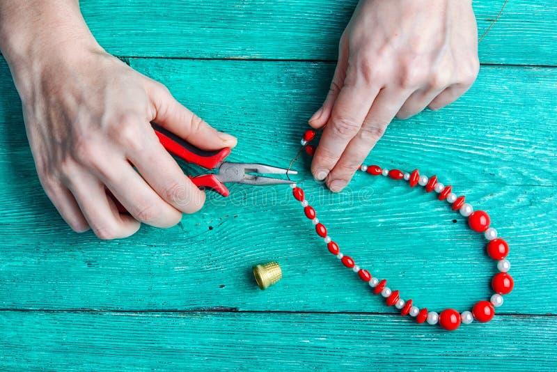 Hobby making jewelry stock image