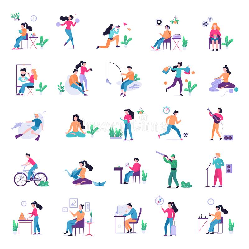 Free Hobby Set. Collection Of People And Creative Activity Stock Images - 156003994